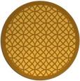 rug #356985 | round light-orange circles rug