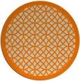 rug #356997 | round orange circles rug
