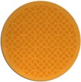 rug #357025 | round light-orange borders rug