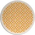 rug #357029 | round light-orange circles rug