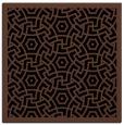 rug #362681 | square black borders rug