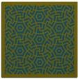rug #362725 | square blue-green borders rug