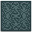 rug #362737 | square blue-green borders rug