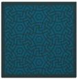 rug #362745 | square blue-green borders rug