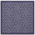 rug #362753 | square blue-violet borders rug
