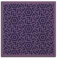 rug #362761 | square purple circles rug