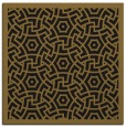 rug #362781 | square mid-brown circles rug