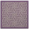 rug #362845 | square purple circles rug