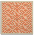 rug #362861 | square orange borders rug