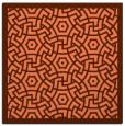 rug #362865 | square red-orange circles rug