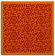 rug #362909 | square red borders rug