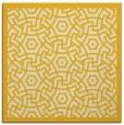 rug #362953 | square yellow circles rug