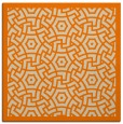 rug #362981 | square orange circles rug