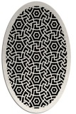rug #363021 | oval white borders rug