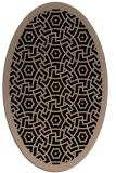 rug #363029 | oval black circles rug