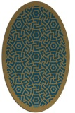 rug #363039 | oval borders rug