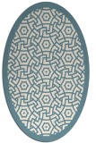 rug #363041 | oval white borders rug