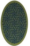 rug #363053 | oval green circles rug