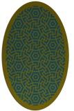 rug #363077 | oval green borders rug