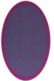 rug #363081 | oval pink rug