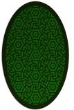 rug #363085 | oval green borders rug