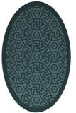 rug #363089 | oval blue-green circles rug