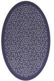rug #363105 | oval blue-violet popular rug