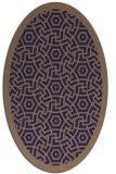 rug #363125 | oval blue-violet circles rug