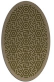 rug #363137   oval mid-brown borders rug