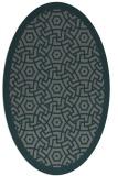 rug #363145 | oval blue-green rug