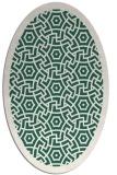 rug #363149 | oval green circles rug