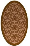 rug #363163 | oval borders rug