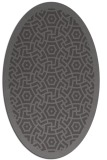 rug #363165 | oval mid-brown borders rug