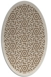 rug #363169 | oval beige circles rug