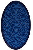 rug #363185 | oval blue borders rug