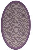 rug #363197 | oval purple circles rug