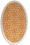 rug #363209   oval orange circles rug