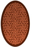 rug #363217 | oval orange circles rug