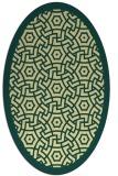 rug #363221 | oval yellow geometry rug