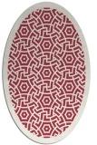 rug #363231 | oval geometry rug