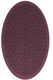 rug #363241 | oval purple circles rug