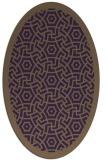 rug #363249 | oval purple circles rug
