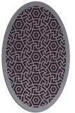 rug #363253 | oval purple geometry rug
