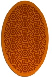 rug #363273 | oval red-orange geometry rug