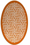 rug #363285   oval red-orange borders rug