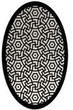 rug #363289 | oval white borders rug