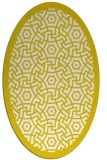 rug #363293 | oval white geometry rug