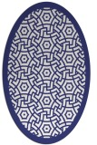 rug #363297 | oval white borders rug