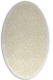 rug #363309 | oval yellow borders rug