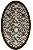 rug #363313 | oval brown circles rug